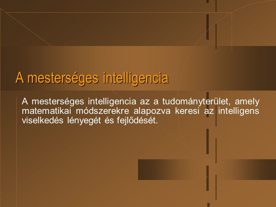 A mesterséges intelligencia