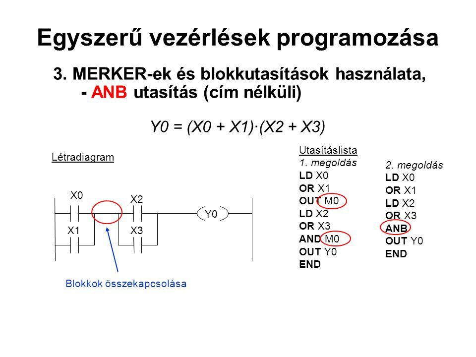 Egyszerű vezérlések programozása