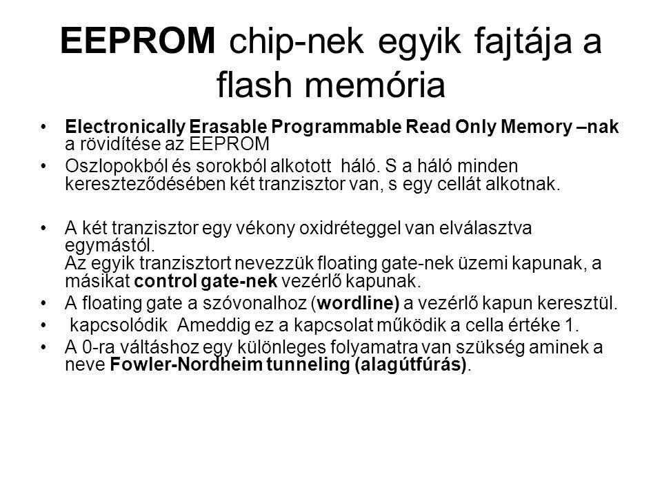 EEPROM chip-nek egyik fajtája a flash memória