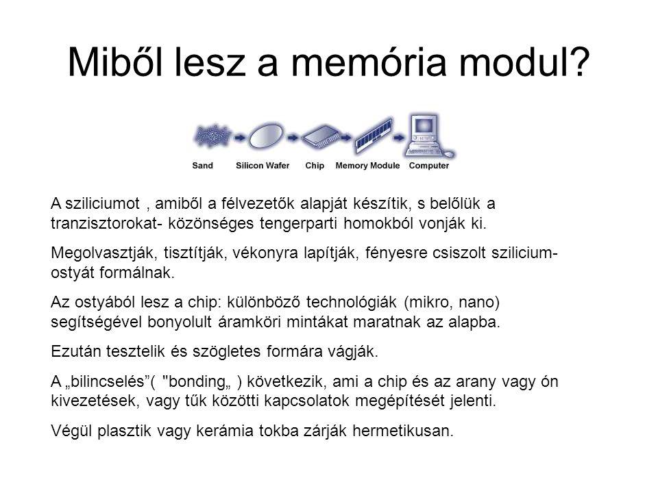 Miből lesz a memória modul