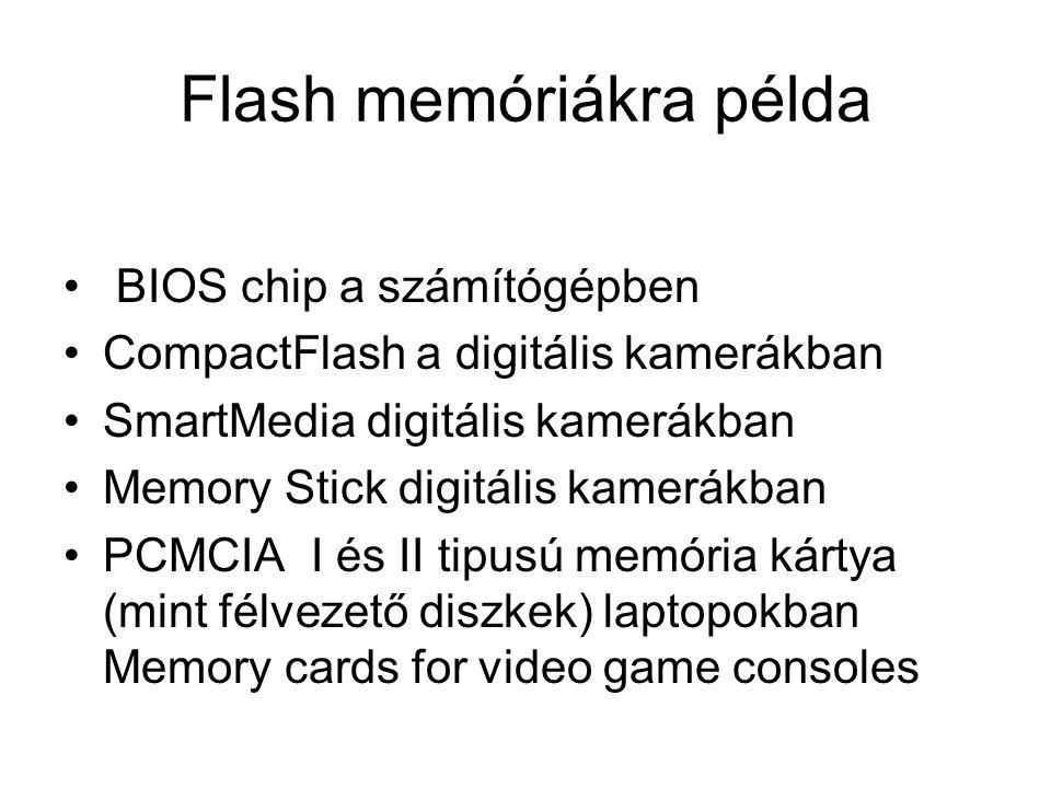 Flash memóriákra példa