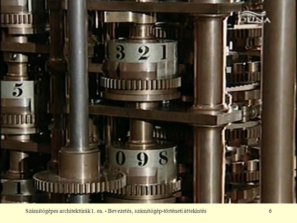 1. ea. - Bevezetés, számítógép-történeti áttekintés
