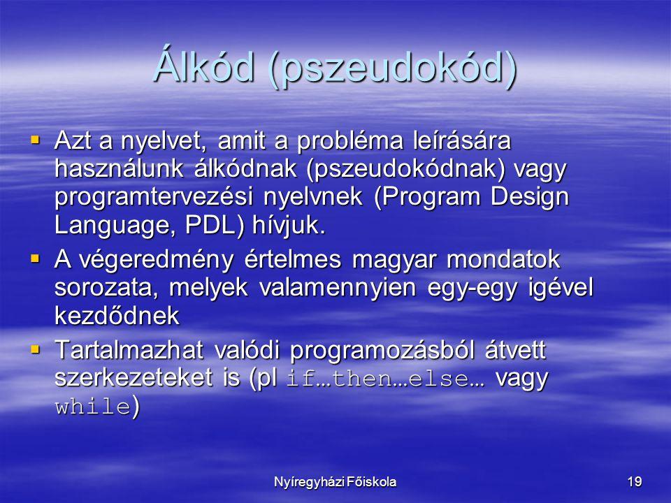 Álkód (pszeudokód)