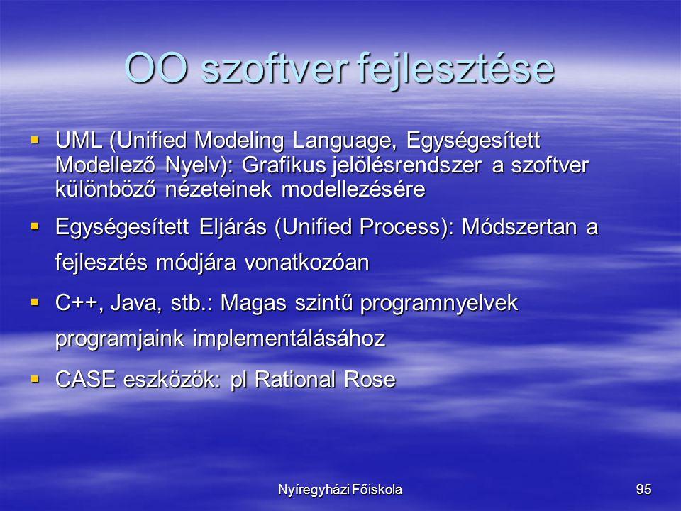 OO szoftver fejlesztése