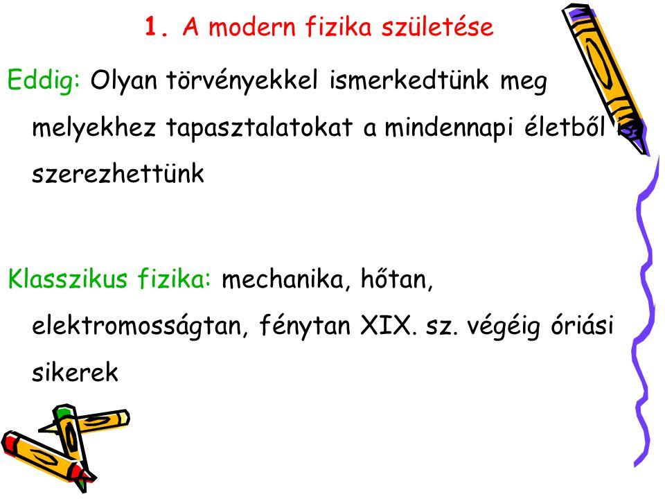 1. A modern fizika születése