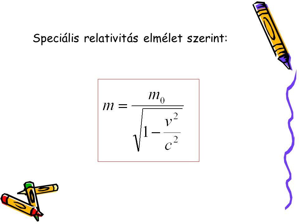 Speciális relativitás elmélet szerint: