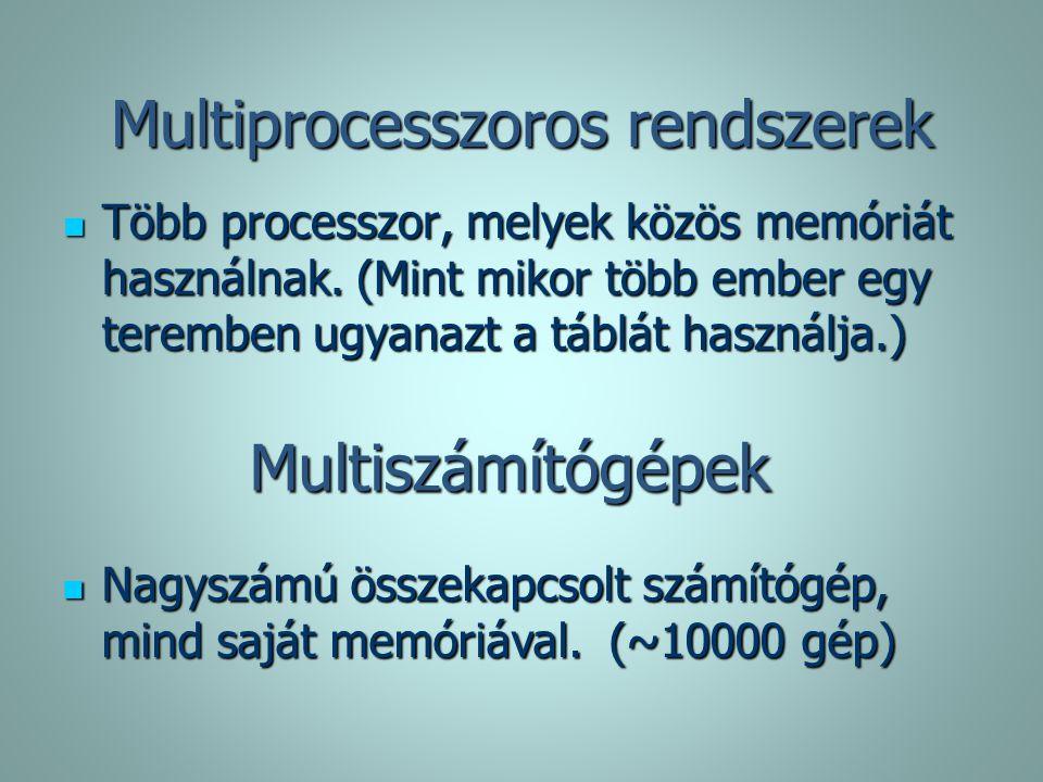 Multiprocesszoros rendszerek