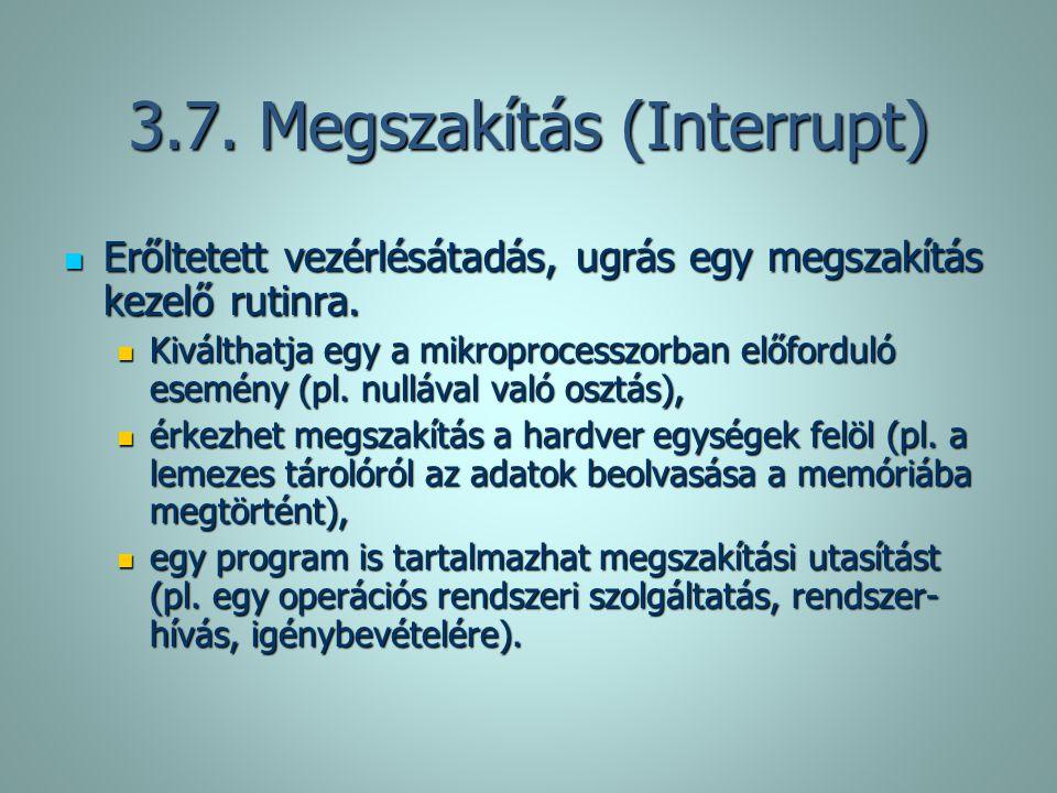 3.7. Megszakítás (Interrupt)