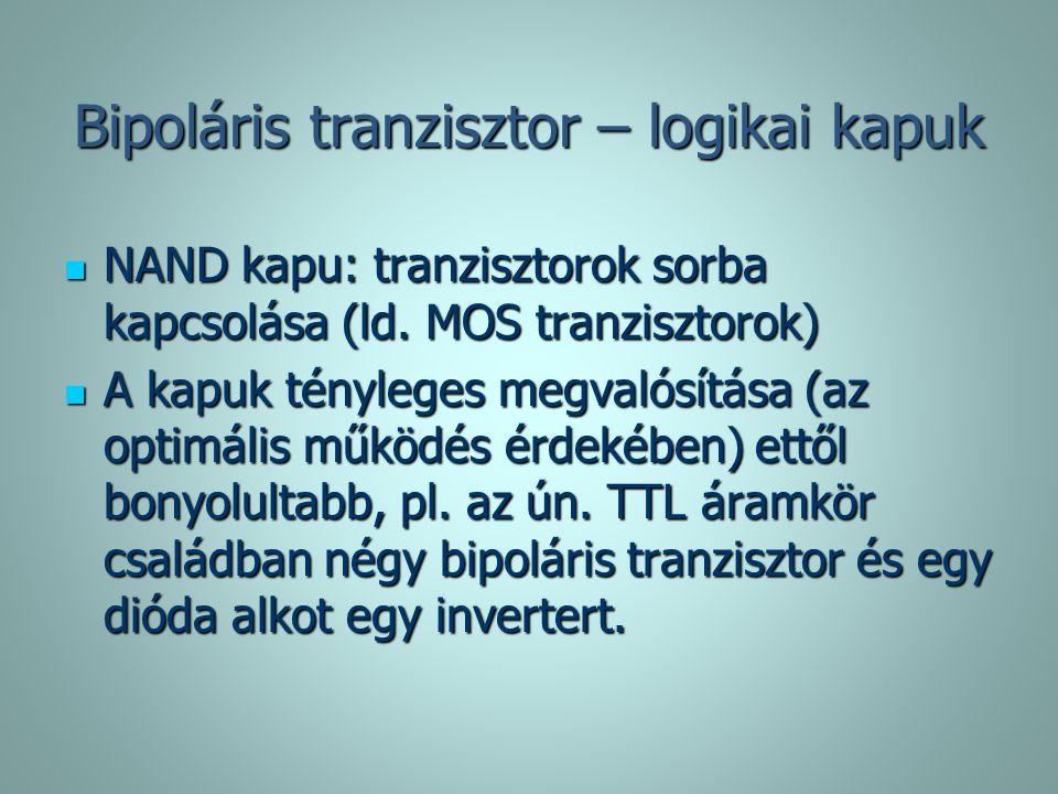 Bipoláris tranzisztor – logikai kapuk