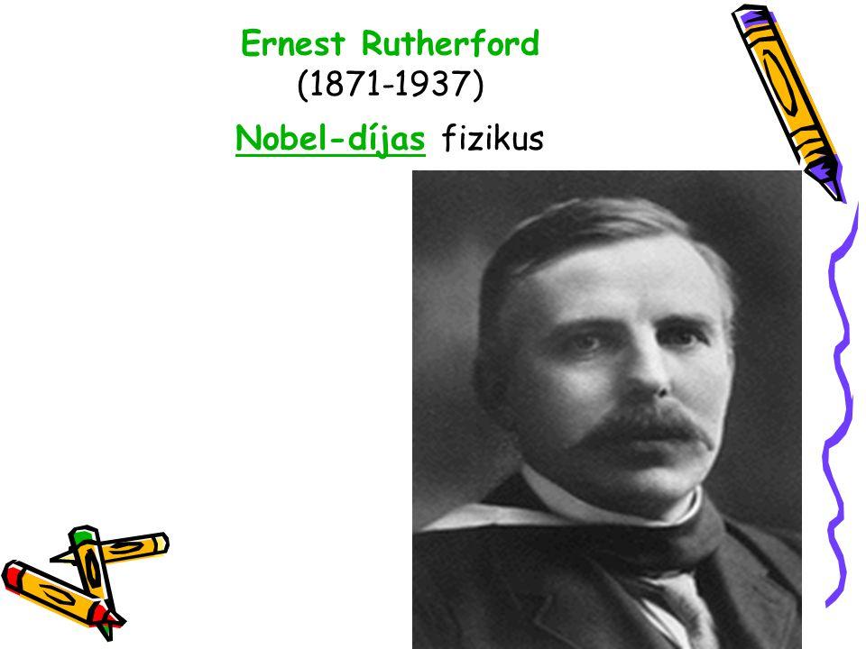 Ernest Rutherford (1871-1937) Nobel-díjas fizikus