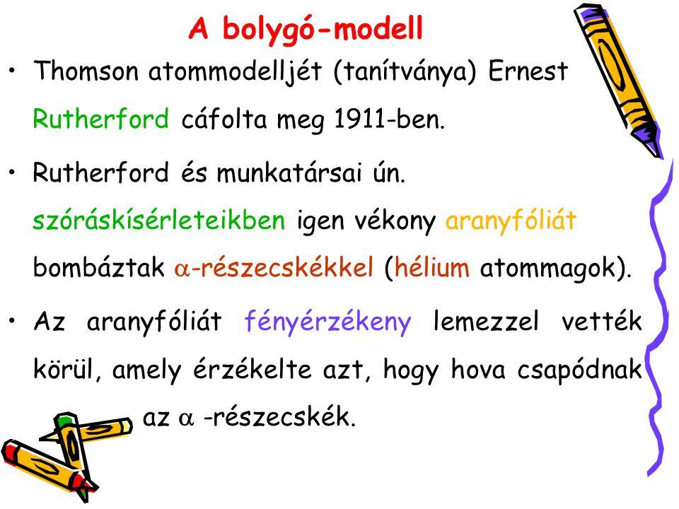 A bolygó-modell Thomson atommodelljét (tanítványa) Ernest Rutherford cáfolta meg 1911-ben.