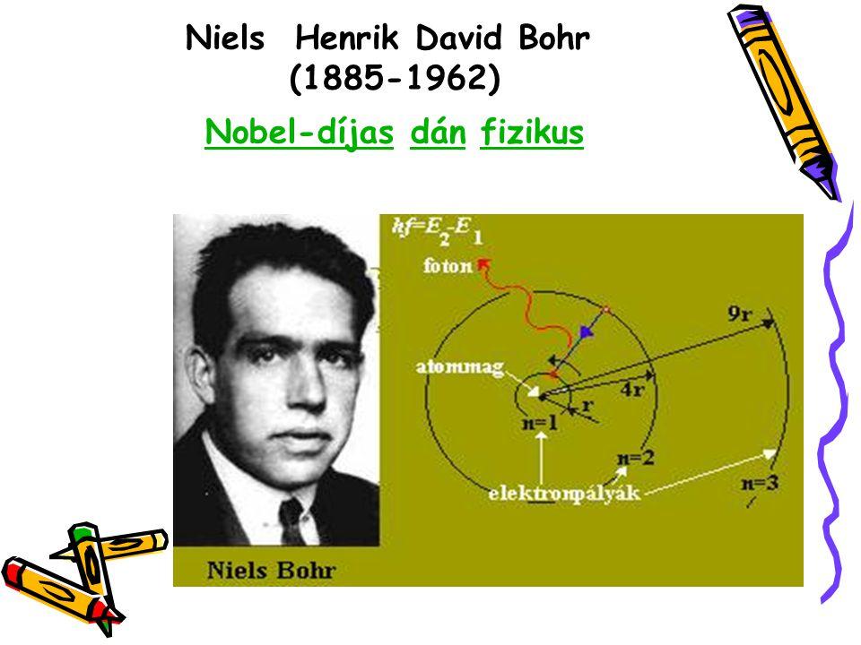 Niels Henrik David Bohr (1885-1962) Nobel-díjas dán fizikus