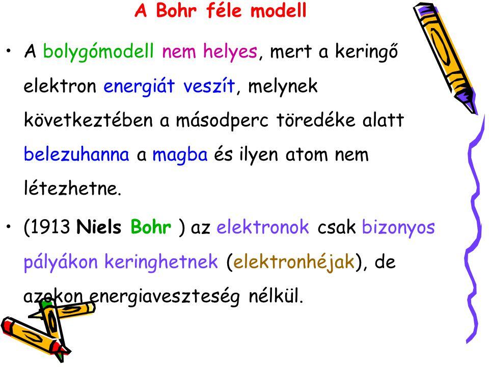 A Bohr féle modell