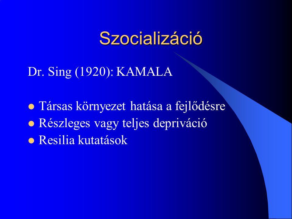 Szocializáció Dr. Sing (1920): KAMALA