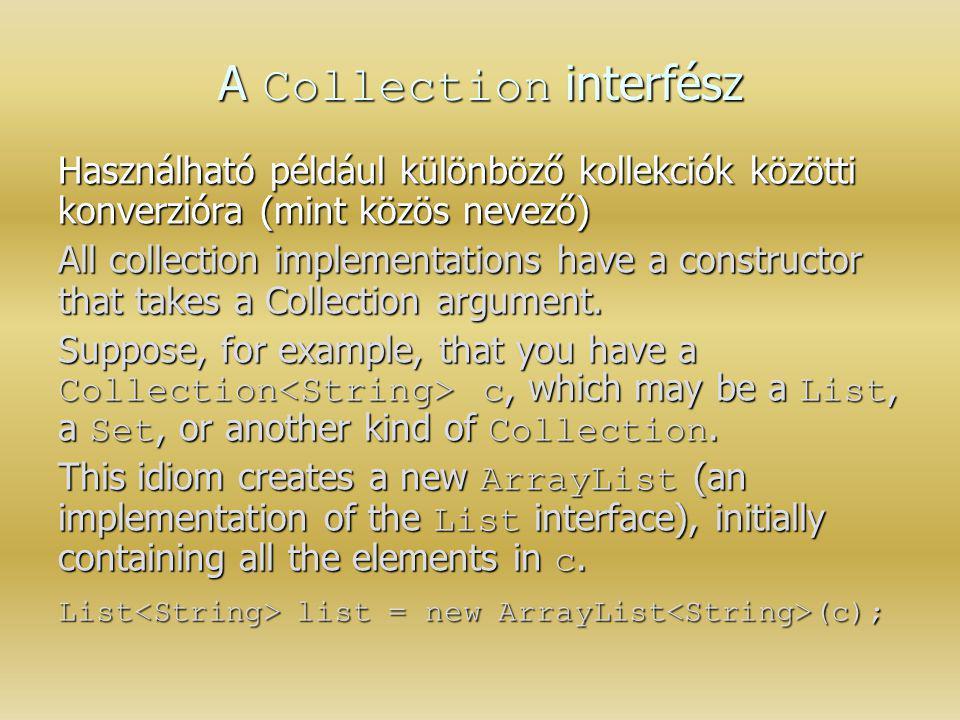 A Collection interfész