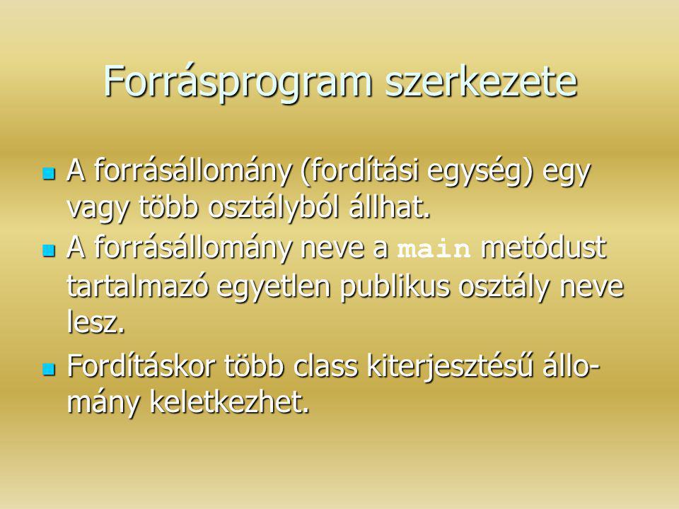 Forrásprogram szerkezete