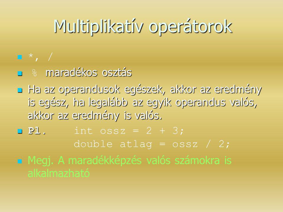 Multiplikatív operátorok