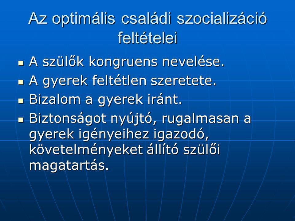 Az optimális családi szocializáció feltételei