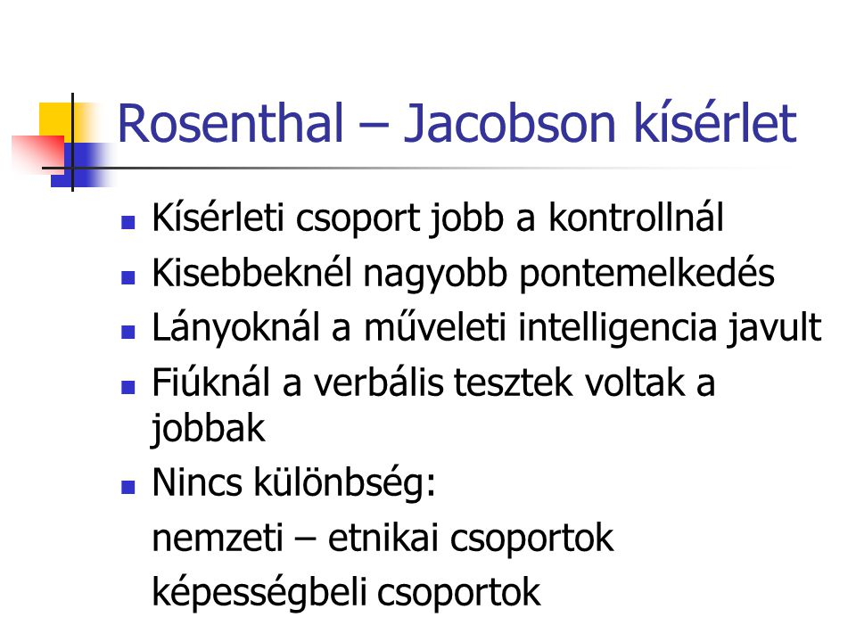 Rosenthal – Jacobson kísérlet