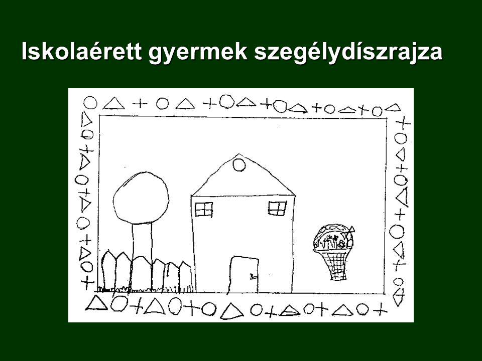 Iskolaérett gyermek szegélydíszrajza