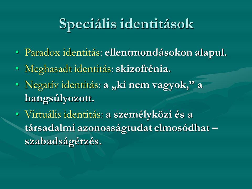 Speciális identitások
