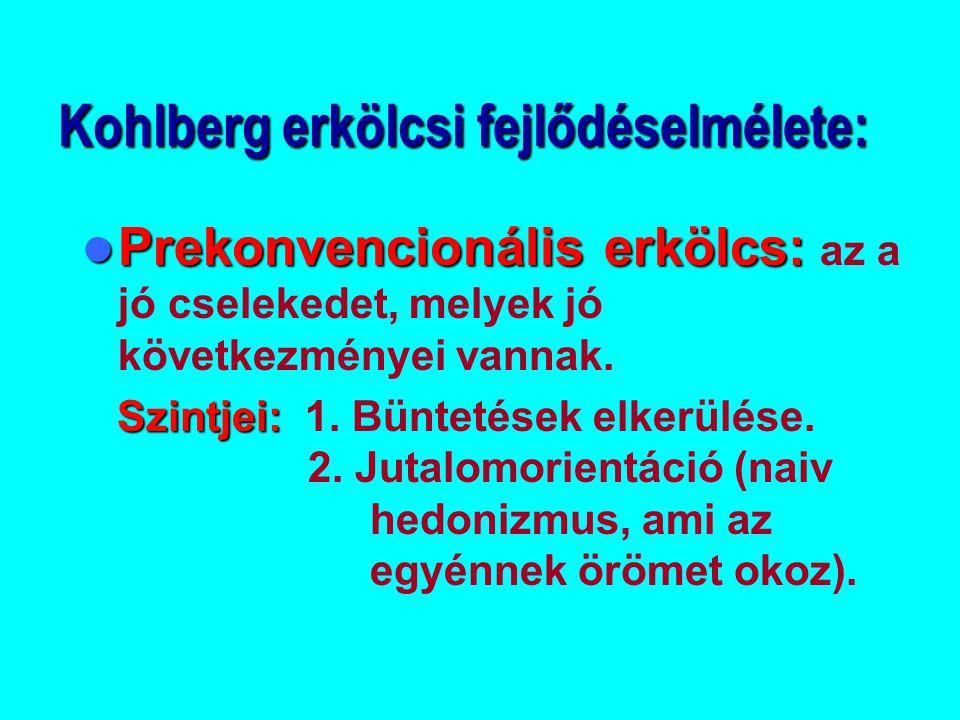 Kohlberg erkölcsi fejlődéselmélete: