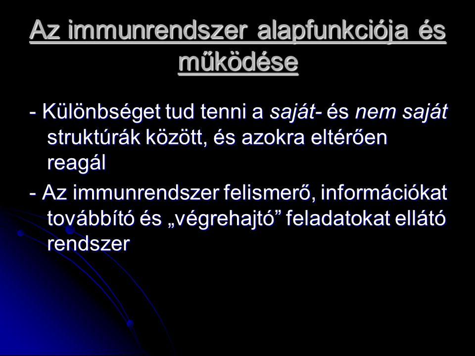 Az immunrendszer alapfunkciója és működése