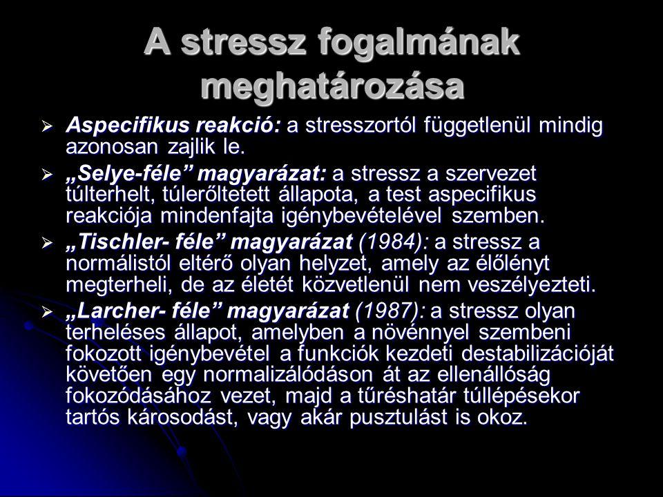 A stressz fogalmának meghatározása