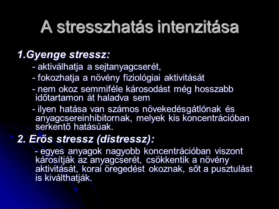 A stresszhatás intenzitása