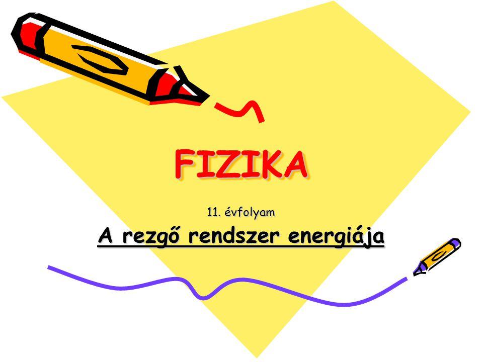11. évfolyam A rezgő rendszer energiája