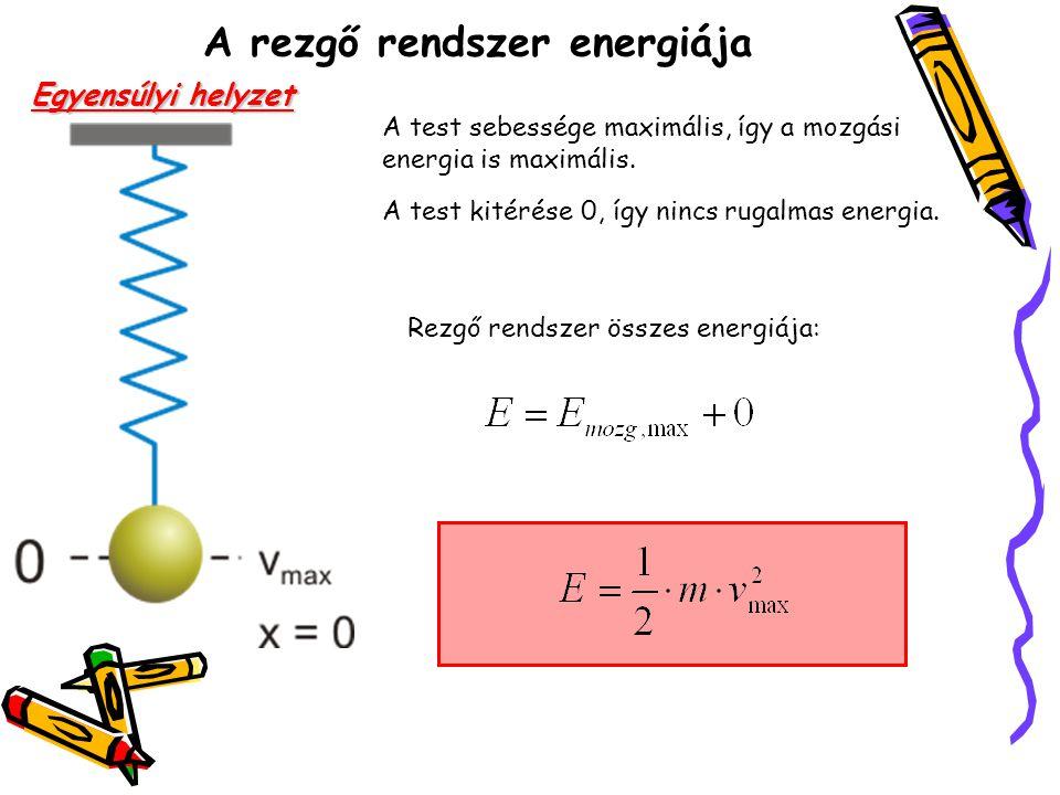 A rezgő rendszer energiája