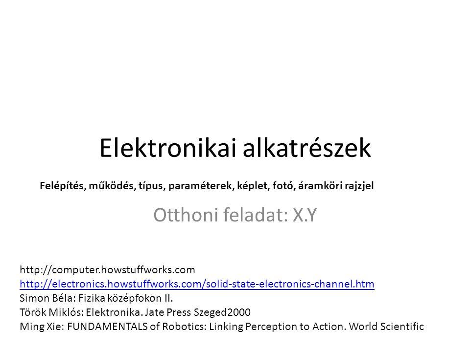Elektronikai alkatrészek