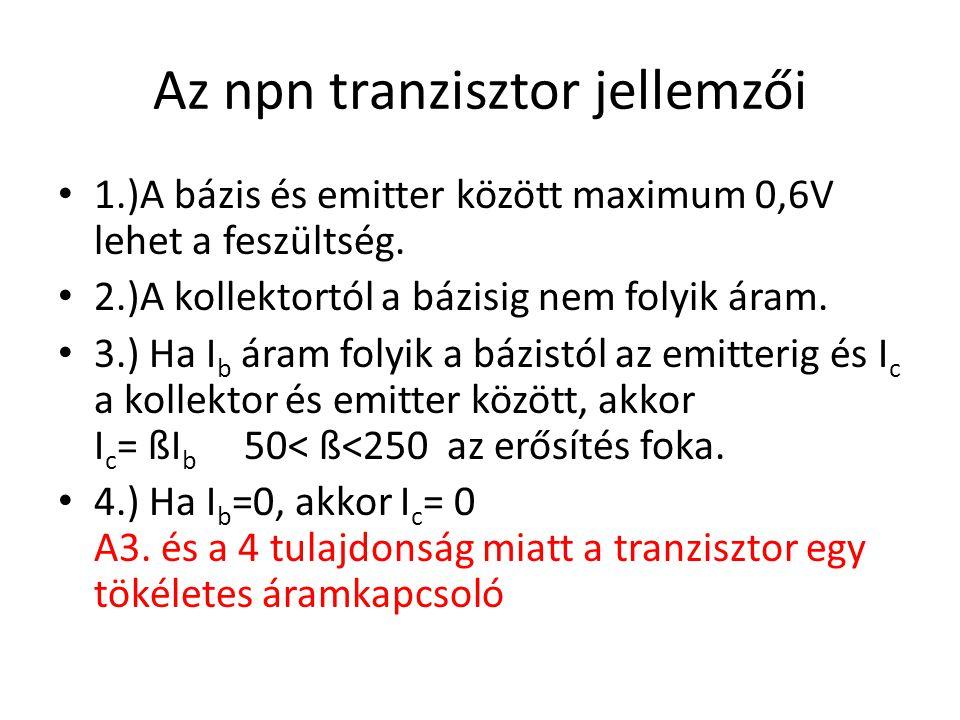 Az npn tranzisztor jellemzői