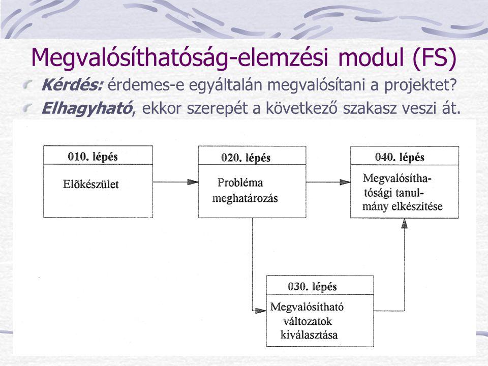 Megvalósíthatóság-elemzési modul (FS)