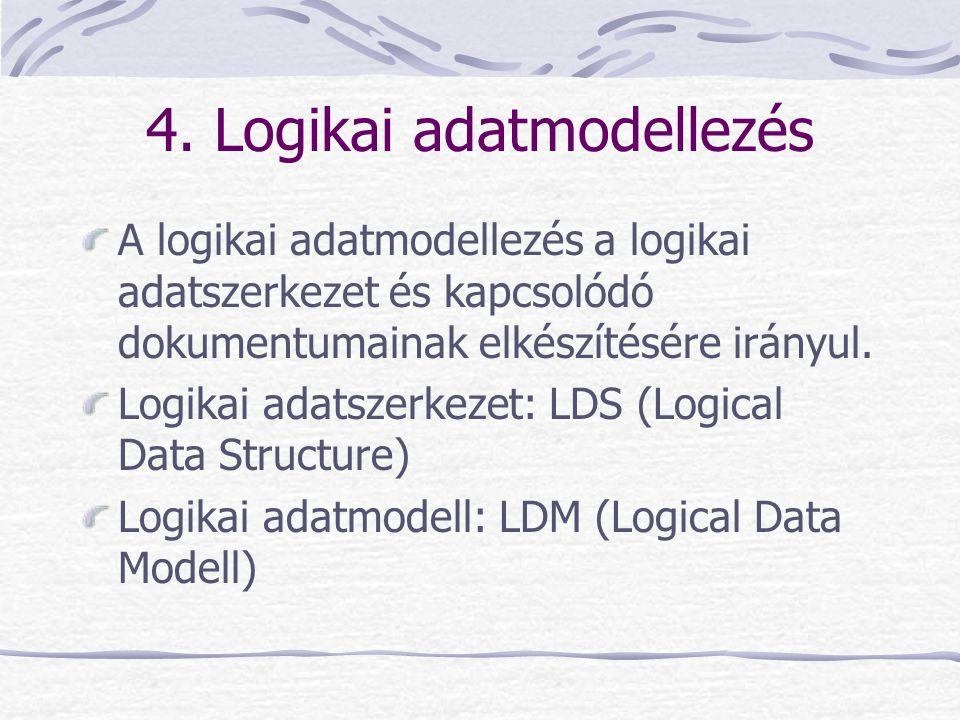 4. Logikai adatmodellezés