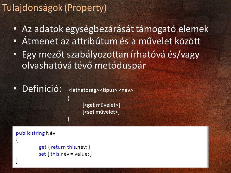 Tulajdonságok (Property)