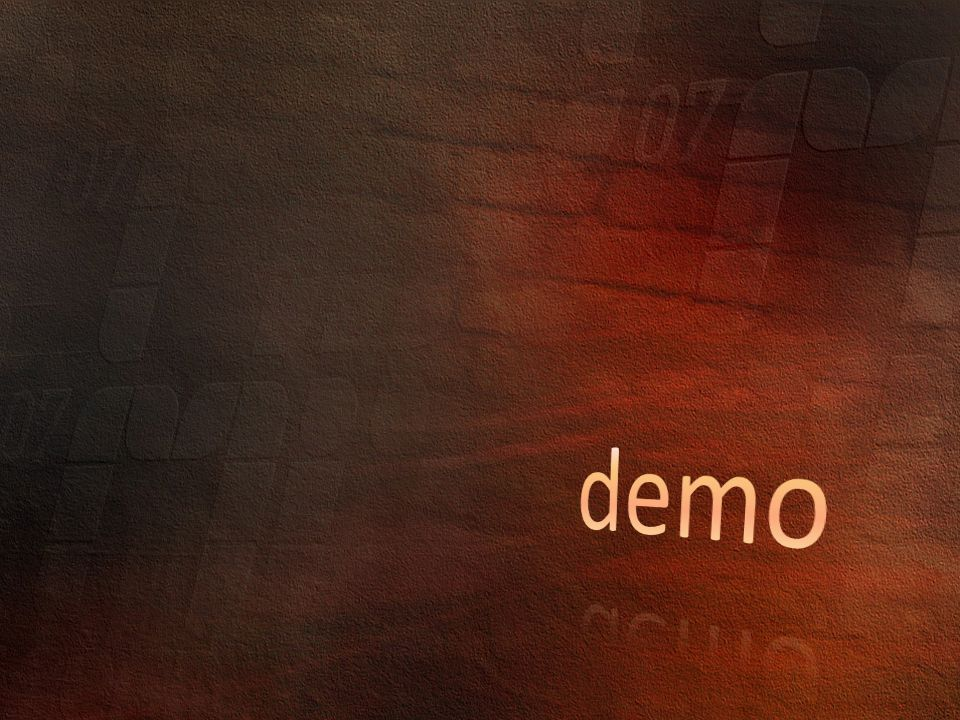 demo Parciális osztály DEMO Console Application partial class Person {