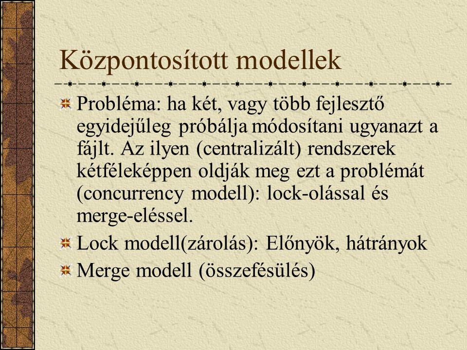 Központosított modellek