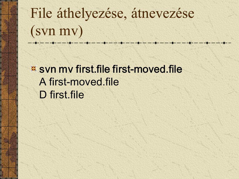 File áthelyezése, átnevezése (svn mv)