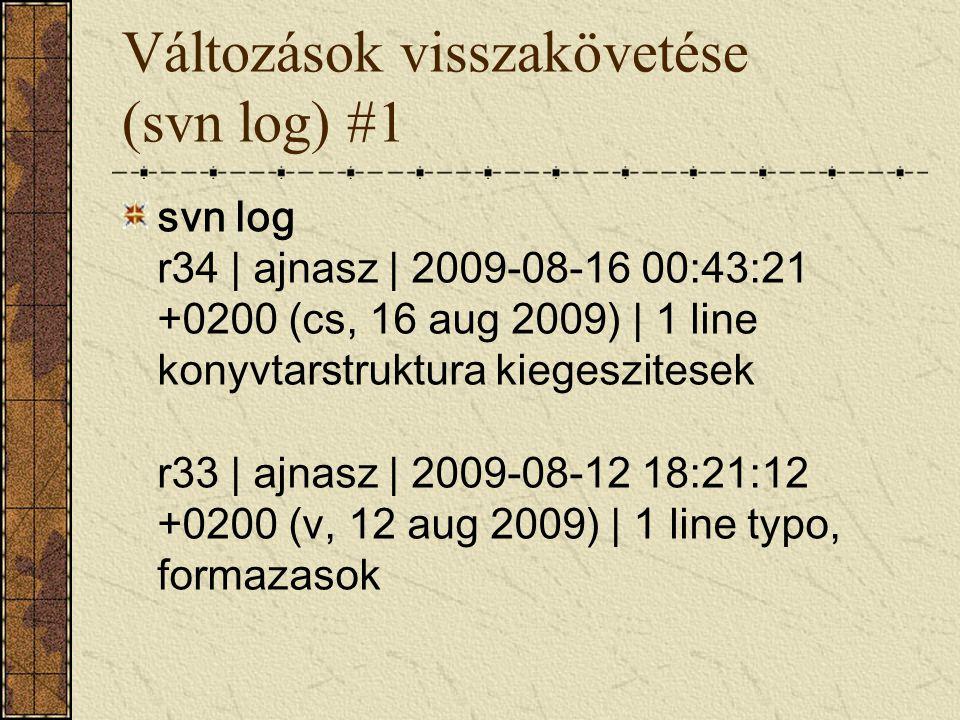 Változások visszakövetése (svn log) #1