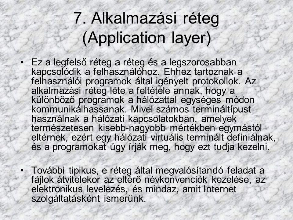 7. Alkalmazási réteg (Application layer)