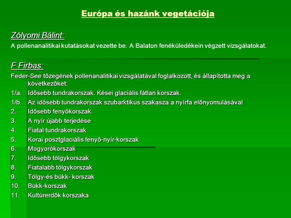Európa és hazánk vegetációja