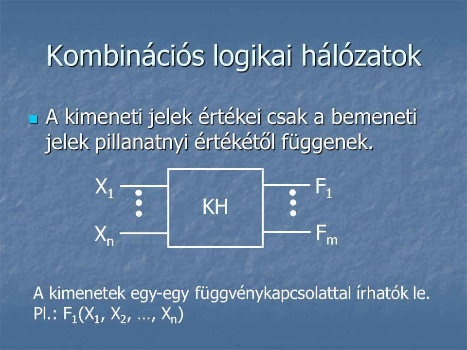 Kombinációs logikai hálózatok