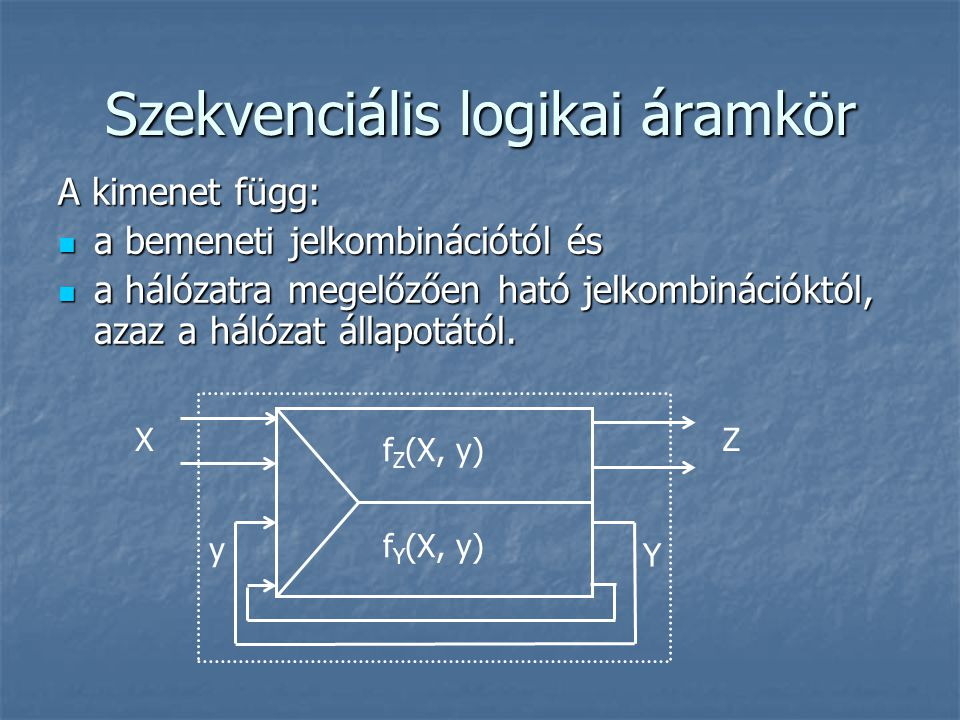 Szekvenciális logikai áramkör