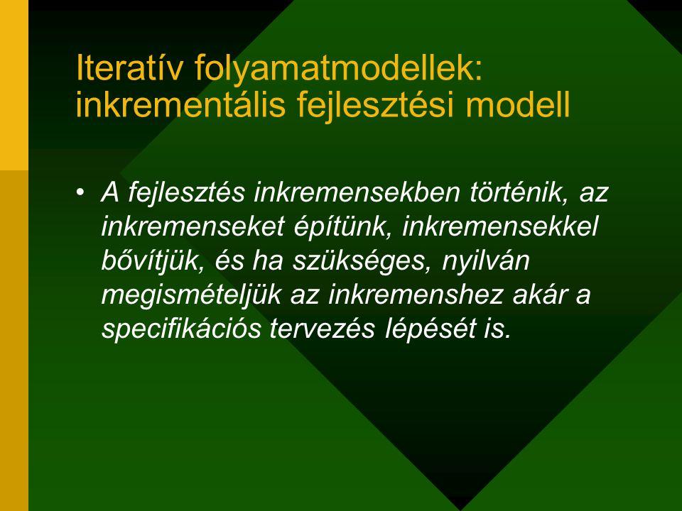 Iteratív folyamatmodellek: inkrementális fejlesztési modell