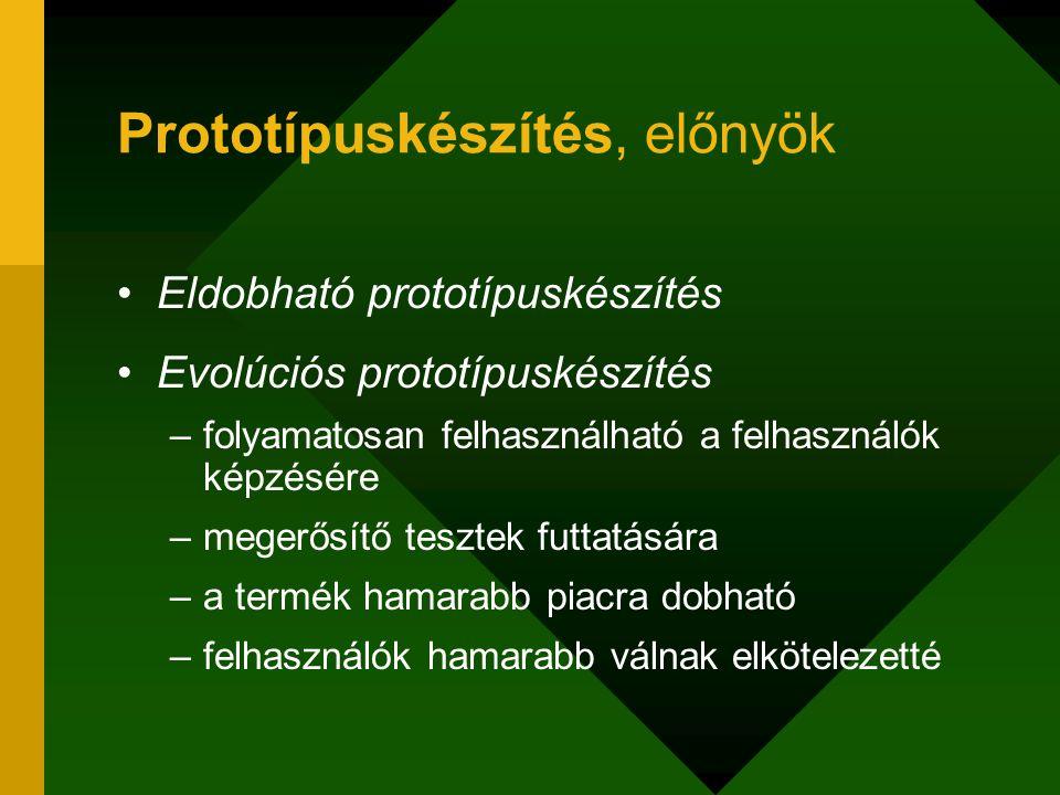 Prototípuskészítés, előnyök