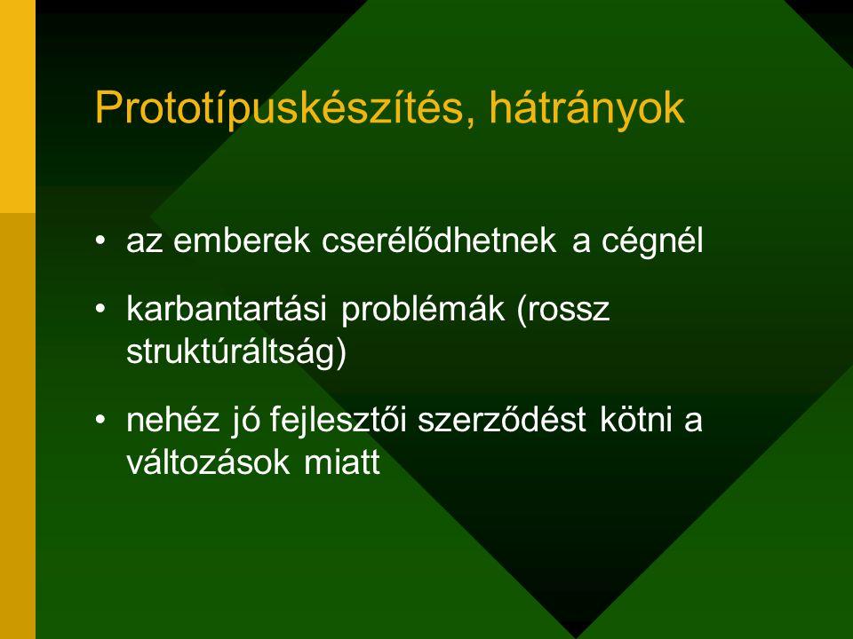 Prototípuskészítés, hátrányok