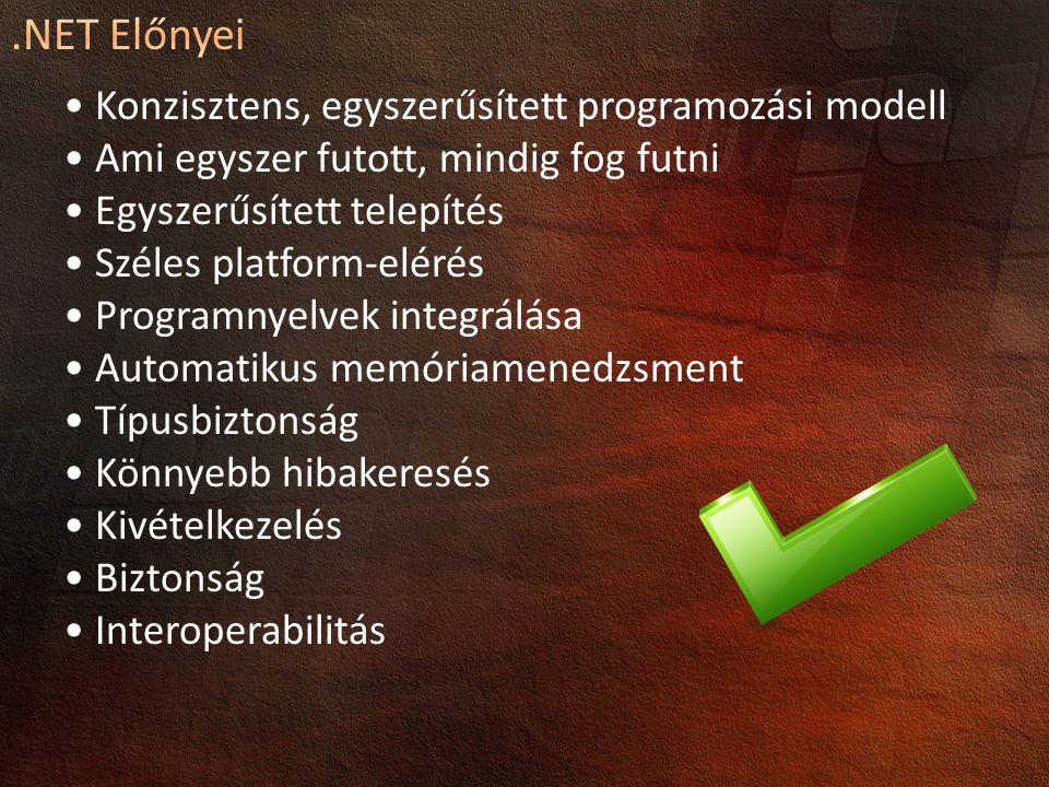 .NET Előnyei