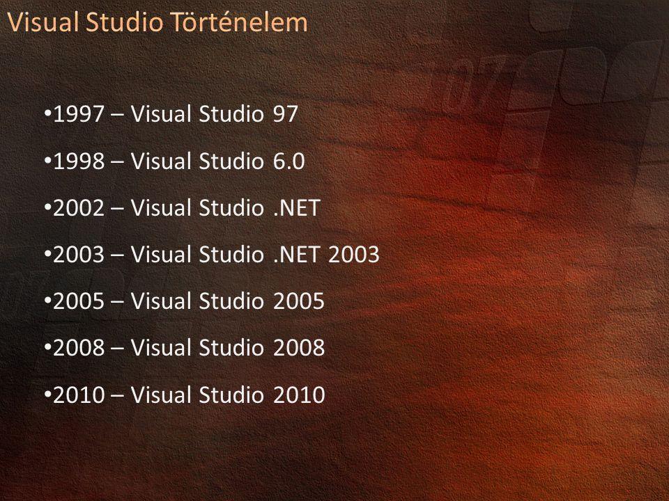 Visual Studio Történelem