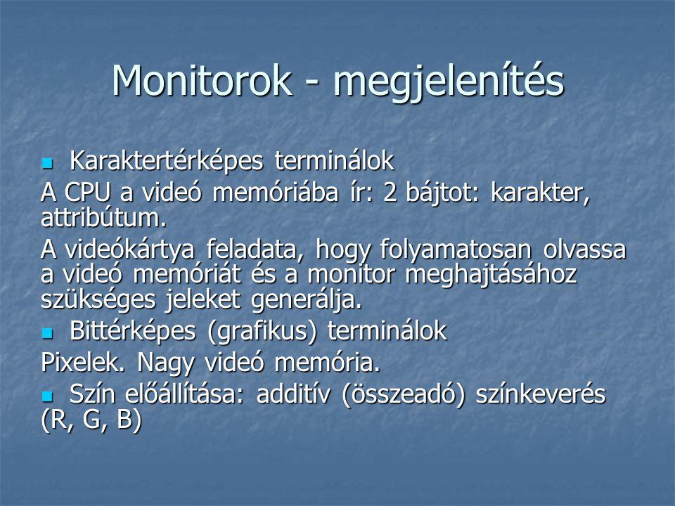 Monitorok - megjelenítés